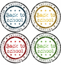 Back to school stamps vector