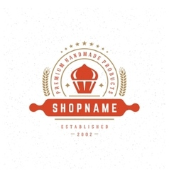 Bakery Shop Logo Design Element vector