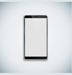 blank smartphone template mockup vector image