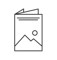 Brochure linear icon vector