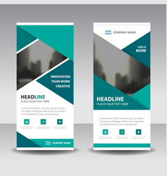 business roll up banner flat design template vector image