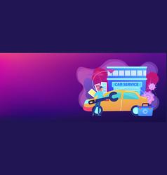 car tuning concept banner header vector image