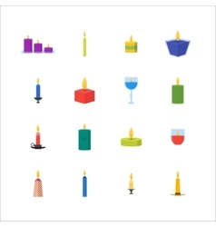 Cartoon Candles Set vector image
