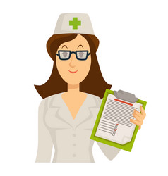 check up with medical specialist in white uniform vector image