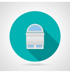 Circle icon for arch window with rolled shutters vector image
