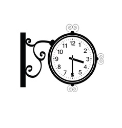 clock antique beauty black vector image