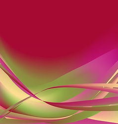 Colorful waves isolated abstract background vector image