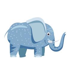 cute elefant animal trend cartoon style vector image