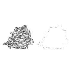 Dot contour map of vatican vector