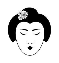 East asian woman icon image vector