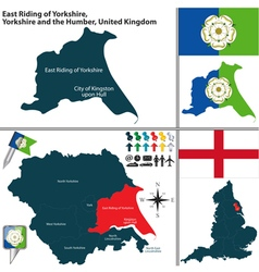 East riding yorkshire yorkshire and humber vector