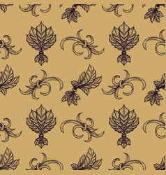 Engraving vintage seamless pattern vector