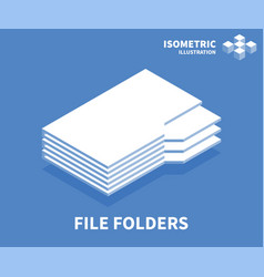 file folders icon isometric template vector image