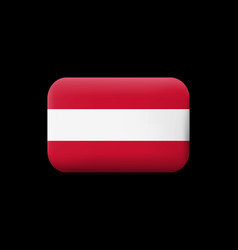 Flag of austria matted icon and button vector