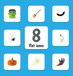 Flat icon festival set spinner superstition vector