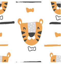 Gentleman tiger pattern vector