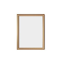 golden frame isolated on white background vector image