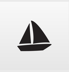 gray boat icon isolated on background modern flat vector image