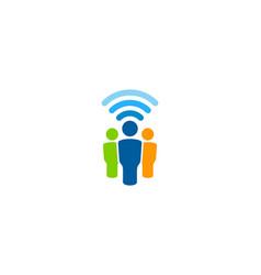Group wifi logo icon design vector