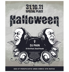 Grungy poster for halloween party vector
