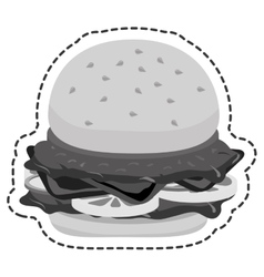Hamburger food flat icon vector