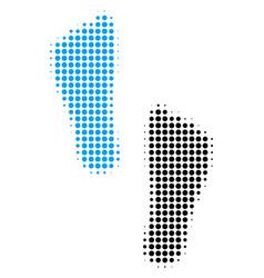 Human footprints halftone icon vector