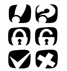 icons for the internet vector image