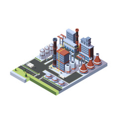 industrial factory built a concept an vector image