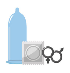 Isolated condom design vector