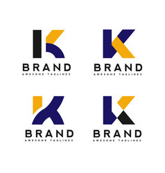 letter k logo simple design template business corp vector image