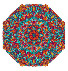 mandala floral design colorful ornament stylish vector image