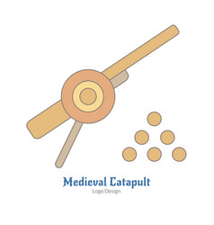 Medieval colorful logo emblem template flat style vector