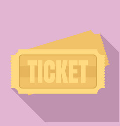 museum ticket icon flat style vector image