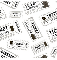 old cinema tickets pattern vector image
