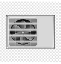 outdoor conditioner fan mockup realistic style vector image