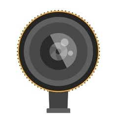 Photo optic lenses icon vector image