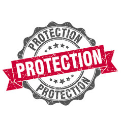 protection stamp sign seal vector image