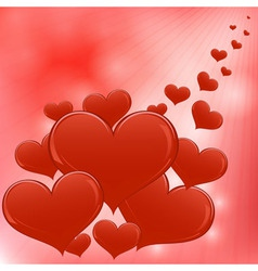 Red hearts Valentine day background vector image