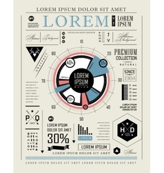 Retro infographic typography set vector image