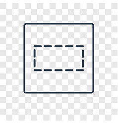row concept linear icon isolated on transparent vector image