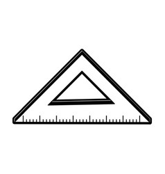 ruler measuring icon image vector image