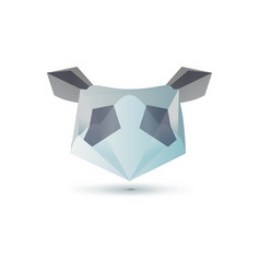 set of minimal geometric animal low poly symbol vector image