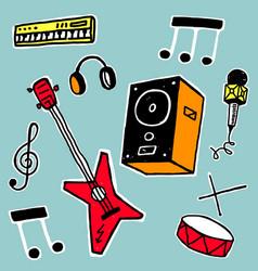 Set of music symbols vector