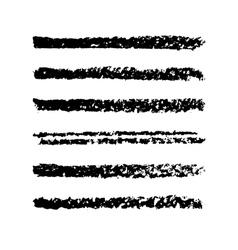 Set of pencil strips vector