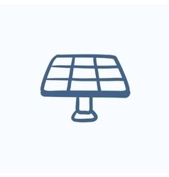 Solar panel sketch icon vector image