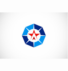 star business logo vector image