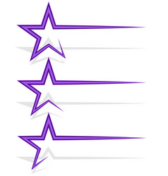 Star decoration element with dynamic line trail vector