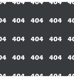 Straight black error 404 pattern vector