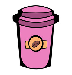 takeaway coffee cup icon cartoon vector image