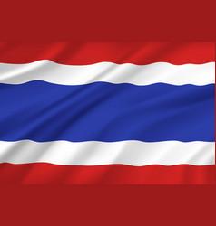 Thailand flag wavy realistic 3d bangkok symbol vector